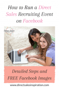 Run recruiting events on Facebook together with your team. #DirectSales #PartyPlan
