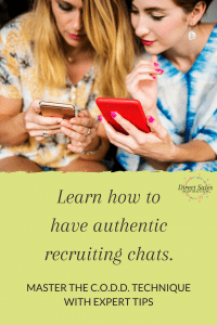 Use this easy structure to make those recruiting chats easy and fun.