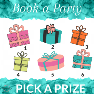 Book a Party, Pick a Prize Facebook Tile