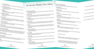 Downloadable: 50 Social Media Post Ideas