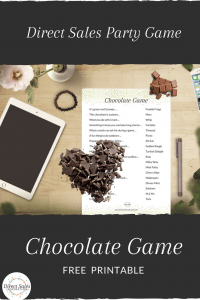 Play this direct sales party game with your chocoholic guests for fun and engagement.