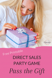 Low-stress party game for your direct selling party. Grab the free printable and play!
