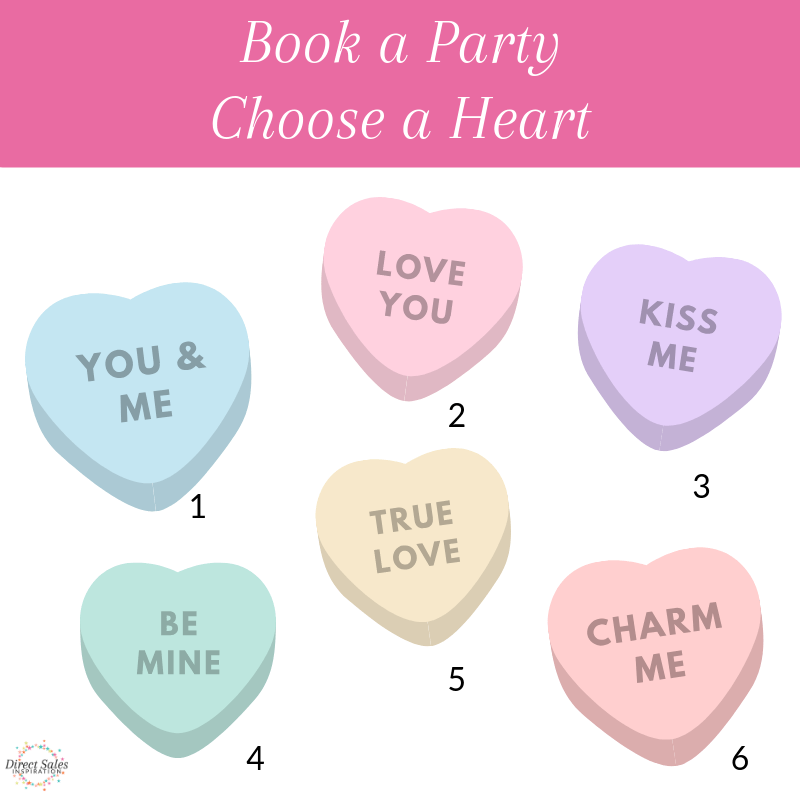 Book a Party Choose a Heart