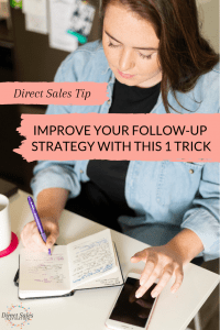 Improve your follow-up strategy with this one trick: a leads book for all your recruiting or host leads. #directsales #directselling