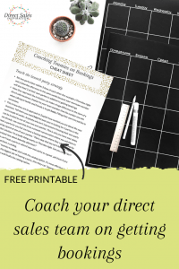 Coach your direct sales team on getting bookings