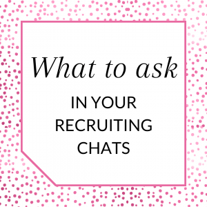 Title: What to ask in your recruiting chats