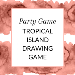 Title: Tropical Island Drawing Game for Direct Sellers