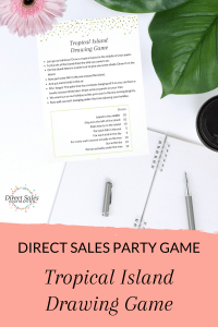 Direct Sales Party Game: Tropical Island Drawing Game