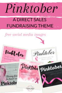 Pinktober - a direct sales fundraising theme with free social media images
