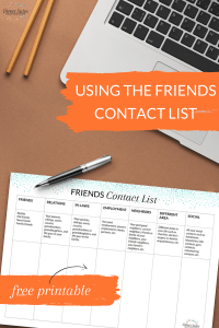 PIN: Using the friends contact list