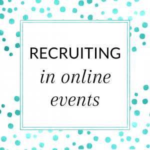 Title: Recruiting in Online Events